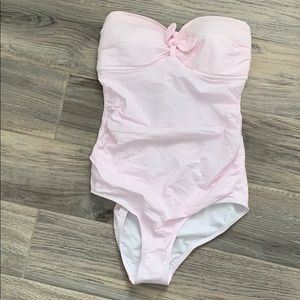 J.crew pink searsucker one piece
